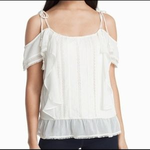 WHBM Cold Shoulder top